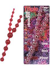 Красные шарики анал тройные